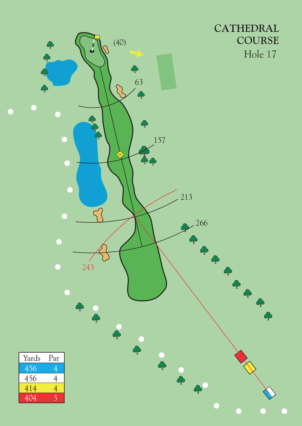 Cathedral Golf Course Durham Ramside Hall Club Hole Diagram View Guide